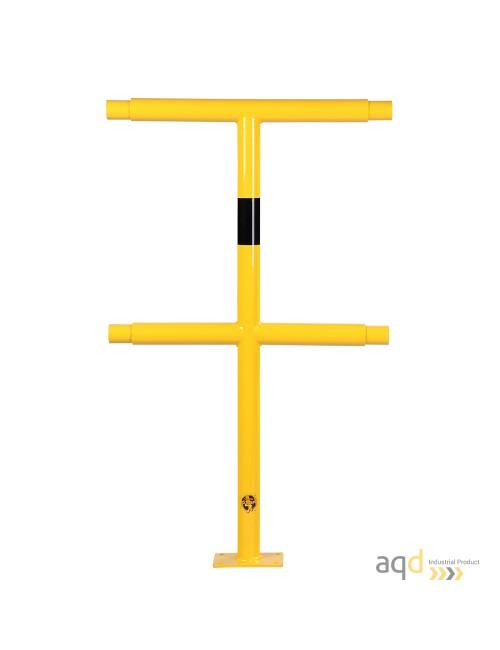 Poste medio, 1000 mm (alt.), 500 mm (anch.) para barandilla de seguridad modular de acero