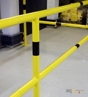 Travesaño, 500 mm (anch.) para barandilla de seguridad modular de acero - Barandilla de seguridad modular de acero de 48 mm d...