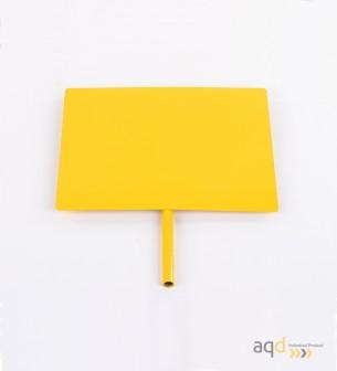 Placa de advertencia para carrito de barreras extensibles - Carrito de barreras extensibles,