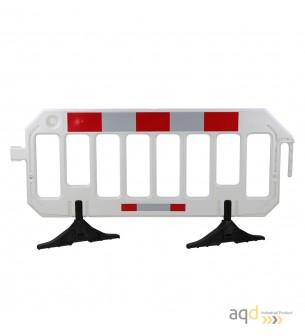 Valla industrial plástica blanca, 2 m (anch) x 1 m (alt.) - Valla industrial plástica,