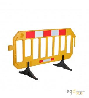 Valla industrial plástica amarilla, 2 m (anch.) x 1 m (alt.) - Valla industrial plástica,