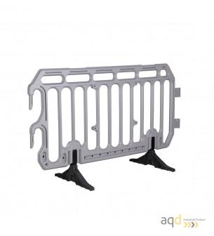 Valla industrial plástica gris, 2 m (anch.), 1,10 m (alt.) - Valla industrial plástica,