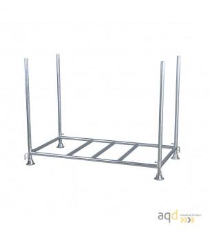 Estante de almacenamiento y transporte para valla industrial plástica - Balizamiento y señalización,
