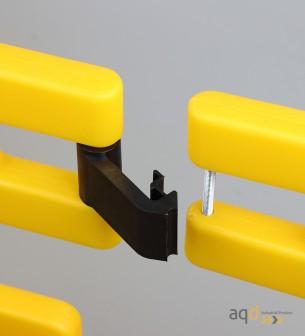 Valla industrial plástica plegable, 2 partes - Valla industrial plástica plegable ,