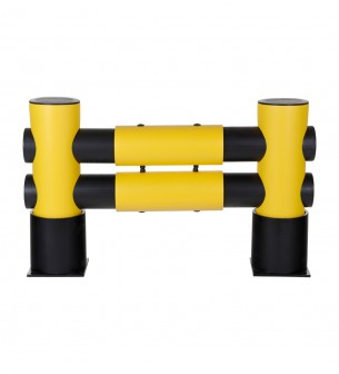 Barrera flexible Golf: 2 travesaños 1100 mm x 760 mm x 220 mm - Barrera para estanterías flexible