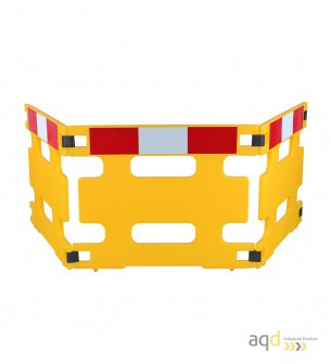 Valla industrial plástica plegable, 3 partes - Valla industrial plástica plegable ,
