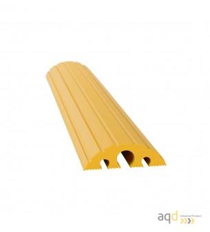 Protector pasacables amarillo suelo 3 canaletas (2 x 20 mm 1 x 40 mm), 1200 mm (anch.) - Protector pasacables suelo 3 canalet...