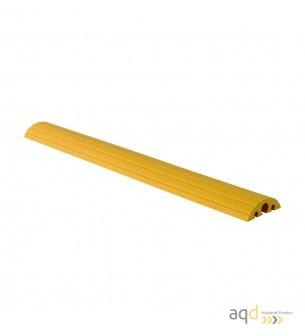 Protector pasacables amarillo suelo 3 canaletas (2 x 20 mm 1 x 40 mm), 1500 mm (anch.) - Protector pasacables suelo 3 canalet...