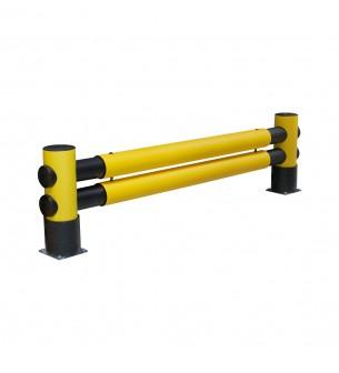 Barrera flexible Golf: 2 travesaños, 2500 mm x 760 mm x 220 mm - Barrera para estanterías flexible
