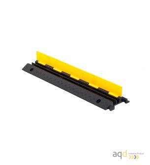 Protector pasacables para suelo con tapa, 2 canaletas (32 mm x 30 mm), 980 mm (longitud) - Protector pasacables para suelo co...