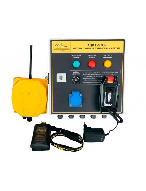 Sistema de seguridad inalámbrico para estaciones de esquí AQD-E-STOP