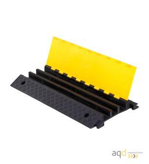 Protector pasacables para suelo con tapa, 3 canaletas (50 mm x 68/57/65 mm), 900 mm (long.) - Protector pasacables para suelo...