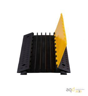 Protector pasacables para suelo con tapa, 5 canaletas (35,3 mm x 38 mm) , 900 mm (long.) - Protector pasacables para suelo co...