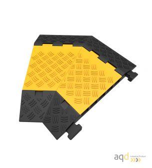 Protector pasacables para suelo con tapa, 5 canaletas, 45º dcha, 500 mm (long.) - Protector pasacables para suelo con tapa y ...