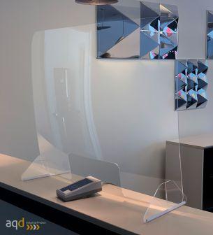 Mampara de protección anticontagios Covid-19. Mostrador 60 x 80 cm - Sistemas Anticontagio