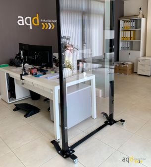 Mampara móvil anticontagio Covid19 - aqdGuard® SGL Screen - Sistemas Anticontagio