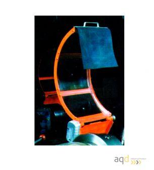 Protección estándar para tornos de 3 pantallas con Seguridad Eléctrica - Protección estándar para tornos