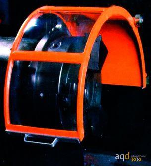 Protección estándar para tornos de 3 pantallas en aluminio con Seguridad Eléctrica - Protección estándar para tornos