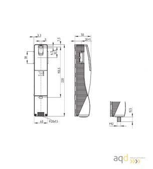 Schmersal Interruptor de bloqueo con principio de desbloqueo por tensión AZM200SK-T-1P2P - AZM 200 Dispositivo de bloqueo de ...