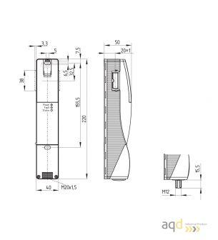 Schmersal Interruptor de bloqueo con principio de bloqueo por tensión AZM200SK-T-1P2WA - AZM 200 Dispositivo de bloqueo de se...