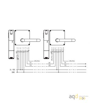 Schmersal Interruptor de bloqueo con principio de desbloqueo por tensión AZM200BSK-T-1P2W - AZM 200 Dispositivo de bloqueo de...