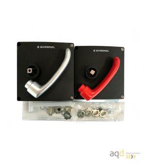 Schmersal Actuador para AZM 200 con manija antipánico para puerta con bisagras a la derecha AZ/AZM200-B30-RTAG1P1 - AZM 200 D...