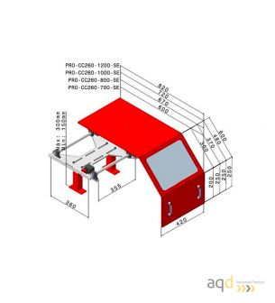 Protección para tornos AQDPRO-CC260-800-SE - Protección para tornos AQDPRO-CC260