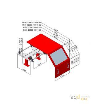 Protección para tornos AQDPRO-CC260-1200-SE - Protección para tornos AQDPRO-CC260