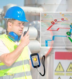 Dispositivo de geolocalización y trazabilidad de operarios y equipos - Equipos inalámbricos para seguridad industrial Bajo pe...