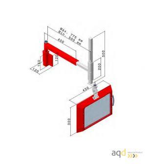 Protección polivalente AQDPRO-C400SE - Protecciones para máquina-herramienta,