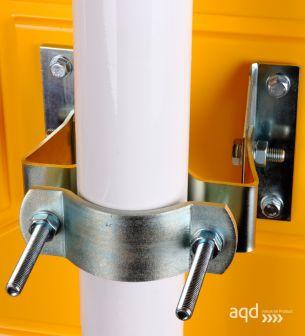 Espejo Industrial EUvex, 80 x 100 cm, rectangular, visión 22-27 m - Espejo Industrial EUvex