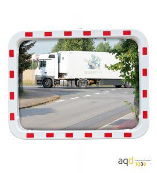Espejo de tráfico EUvex, 60 x 80 cm, rectangular, visión 15-22 m - Espejo de tráfico EUvex