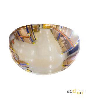 Espejo de media esfera, visión 180 grados y 10-15 m - Espejo de media esfera, visión 180 grados