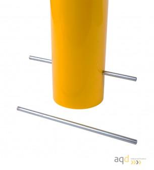Bolardo de acero, 159 mm Ø, 1200 mm alt., 23,4 kg, sin base - Bolardo de acero galvanizado
