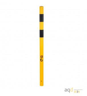 Bolardo de acero, 76 mm Ø, 1600 mm alt., 9,4 kg, sin base - Bolardo de acero galvanizado