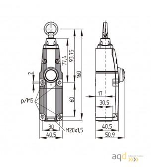 Interruptor de paro de emergencia ZQ 700-02 - Bimanuales, pedales y mandos de seguridad