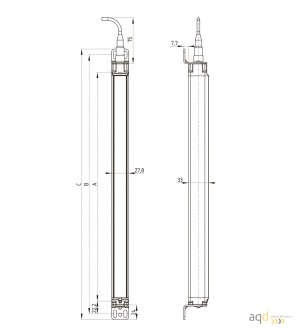 Barrera optoelectrónica, categoría 4, para manos, protección 410 mm - SLC440COM: barrera categoría 4 (Manos)