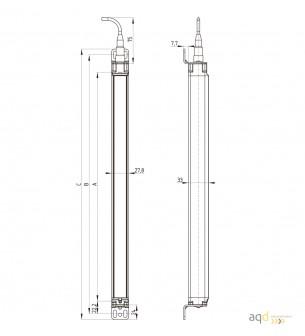 Barrera optoelectrónica, categoría 4, para manos, protección 730 mm - SLC440COM: barrera categoría 4 (Manos)