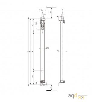 Barrera optoelectrónica, categoría 4, para cuerpo, 4 haces, protección 900 mm - SLG440: barrera categoría 4 (Cuerpo)