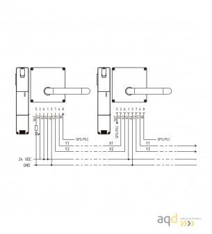 AZM201Z-I2-SK-T-1P2PW Interruptor de seguridad - desbloqueo por tensión - AZM 201 Dispositivo de enclavamiento y bloqueo por ...