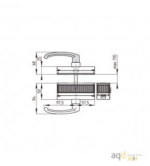 AZ/AZM201-B30-RTAG1P1-SZ Actuador con manija para puerta con bisagras a la derecha - AZM 201 Dispositivo de enclavamiento y b...