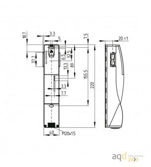 Schmersal Interruptor de seguridad - bloqueo por tensión AZM201B-I2-SK-T-1P2PW-A - AZM 201 Dispositivo de enclavamiento y blo...