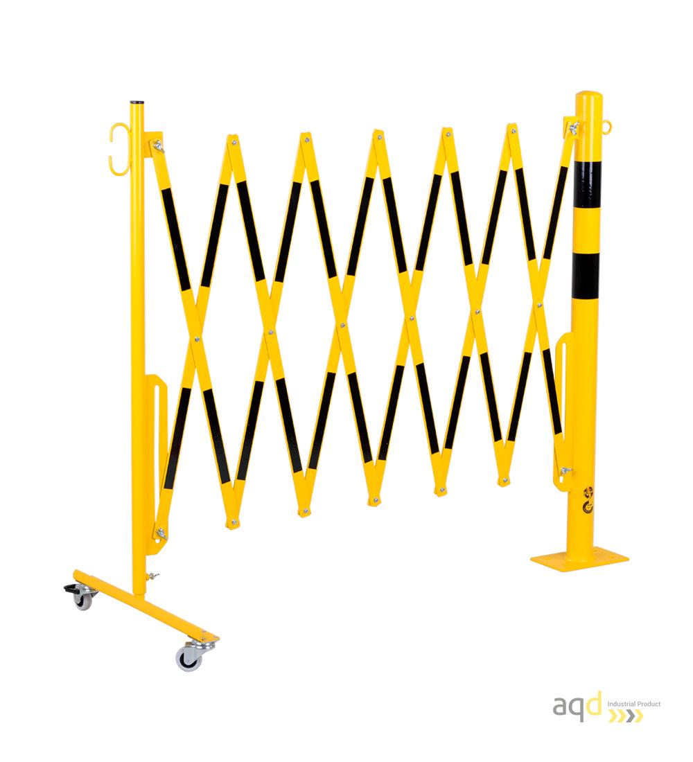 barrera-extensible-con-ruedas-y-poste-cilindricorectangular-1